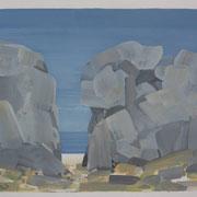 10 - Régénérescence - Huile sur papier canson 65 x 50 cm (format extérieur)