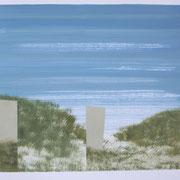 9 - Régénérescence - Huile sur papier canson 65 x 50 cm (format extérieur)