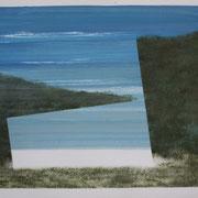 18 - Régénérescence - Huile sur papier canson 65 x 50 cm (format extérieur)