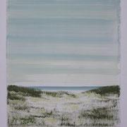 7 - Régénérescence - Huile sur papier canson 65 x 50 cm (format extérieur)