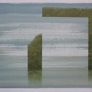 14 - Régénérescence - Huile sur papier canson 65 x 50 cm (format extérieur)