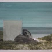 17 - Régénérescence - Huile sur papier canson 65 x 50 cm (format extérieur)