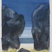 20 - Régénérescence - Huile sur papier canson 65 x 50 cm (format extérieur)
