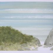 13 - Régénérescence - Huile sur papier canson 65 x 50 cm (format extérieur)