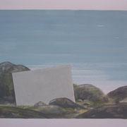 15 - Régénérescence - Huile sur papier canson 65 x 50 cm (format extérieur)