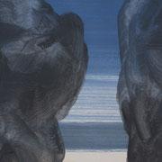20 - Régénérescence (détail) - Huile sur papier canson 65 x 50 cm (format extérieur)