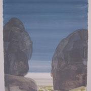21 - Régénérescence - Huile sur papier canson 65 x 50 cm (format extérieur)