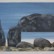 16 - Régénérescence - Huile sur papier canson 65 x 50 cm (format extérieur)