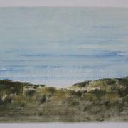 19 - Régénérescence - Huile sur papier canson 65 x 50 cm (format extérieur)