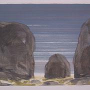 22 - Régénérescence - Huile sur papier canson 65 x 50 cm (format extérieur)