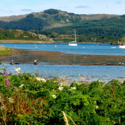 The installation can be seen from the B8002, westwards from the village of Ardfern, Argyll.