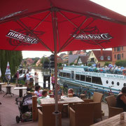 Blick von der Terrasse des Café Flair´s