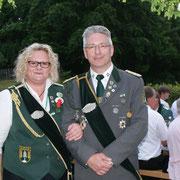 Kaiserpaar:  Sandra Fick und Mario Glyschewski