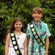 Kinderkönigspaar: Hannah Halbig und Manuel Griemsmann