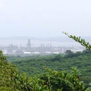 Ausblick bis nach Cartagena zum Hafen
