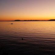 jeden Abend spektakulärer Sonnenuntergang