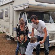 Ulf und Ellen mit den Kindern