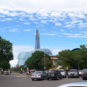 Museum im Hintergrund