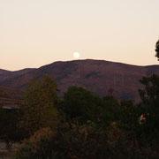 gleich gegenüber der Mond