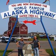 Beginn des Alaska Higway
