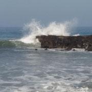... mit teilweise hohen Wellen