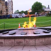 Flamme vor dem Parlament