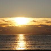 Hier bricht die Sonne durch die Wolken ...