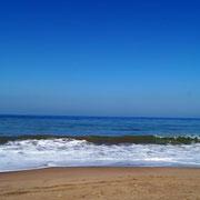 leider sind die Wellen zum Schwimmen zu hoch.