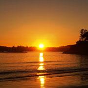 und hier die Belohnung - Sonnenuntergang pur!