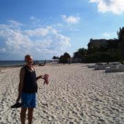 Wir machen trotzdem einen Strandspaziergang ...