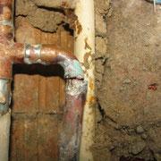 Rohrbruch an Kupferleitung