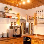 Schnaps und Kaffee-Ecke