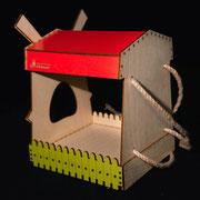 Мельница наствольная - кормушка для птиц и белок.