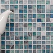 Mosaico Marmo Vetro 15mm Natural Green