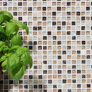 Mosaico Marmo Vetro 15mm Cub Mix Grigio