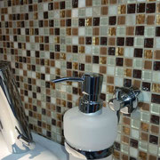 Mosaico Marmo Vetro 15mm Natural Mix Brown