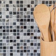 Mosaico Marmo Vetro 15mm Graffiti Mix Nero