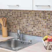 Mosaico 2,5x2,5 cm Madreperla Ambra