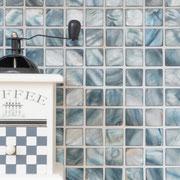 Mosaico 2,5x2,5 cm Madreperla Celeste