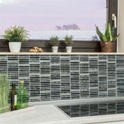 Mosaico Glitter Nero Brick