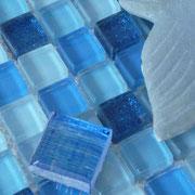 Mosaico Glitter Blu