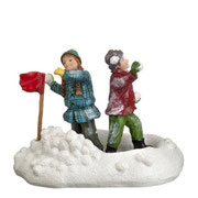 604029-Birte and Jochem having a snowfight