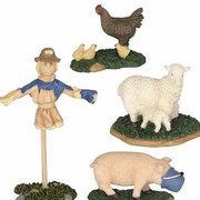 600302-Scarecrow, sheep, pig and chicken