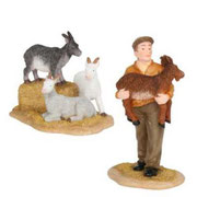 601617-Farmer with goat