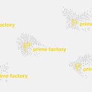 Logo prime factory, verschiedene Versionen, farbigersion – vormals für nullplus, Labor für Gestaltung