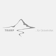 Logo für TRAMP für Globetrotter, Grauversion – infragrau, gute Gestaltung