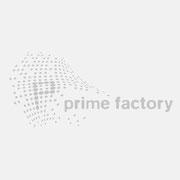Logo prime factory, Grauversion – vormals für nullplus, Labor für Gestaltung