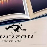Logo Nurizon, Anwendung – infragrau, gute Gestaltung