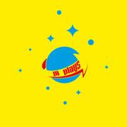 Logo JB plays, Farbversion, gelb – infragrau, gute Gestaltung