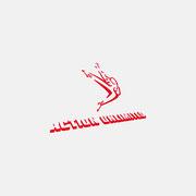 Logo Action Unlimited, Farbversion – infragrau, gute Gestaltung